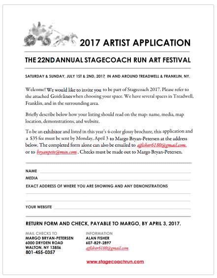 Click to open or download the 2017 Stagecoach Run Artist Application