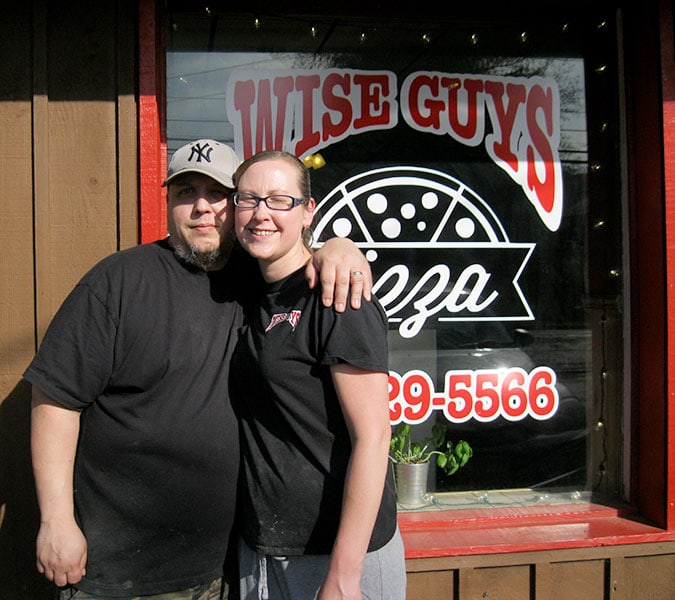 Michael and Sheryl Joubert of Wise Guys Pizza in Franklin, NY