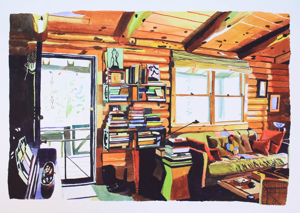 Trix and Rik's Log Home I by Chelsea Gibson