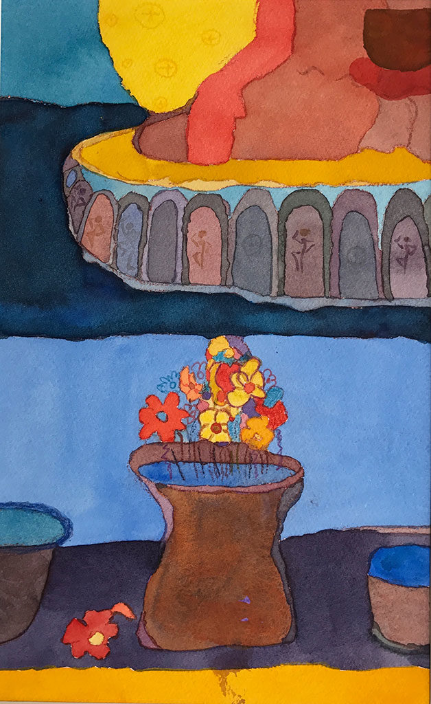 Pushpe: Offering of Flowers by Cheryl Lins