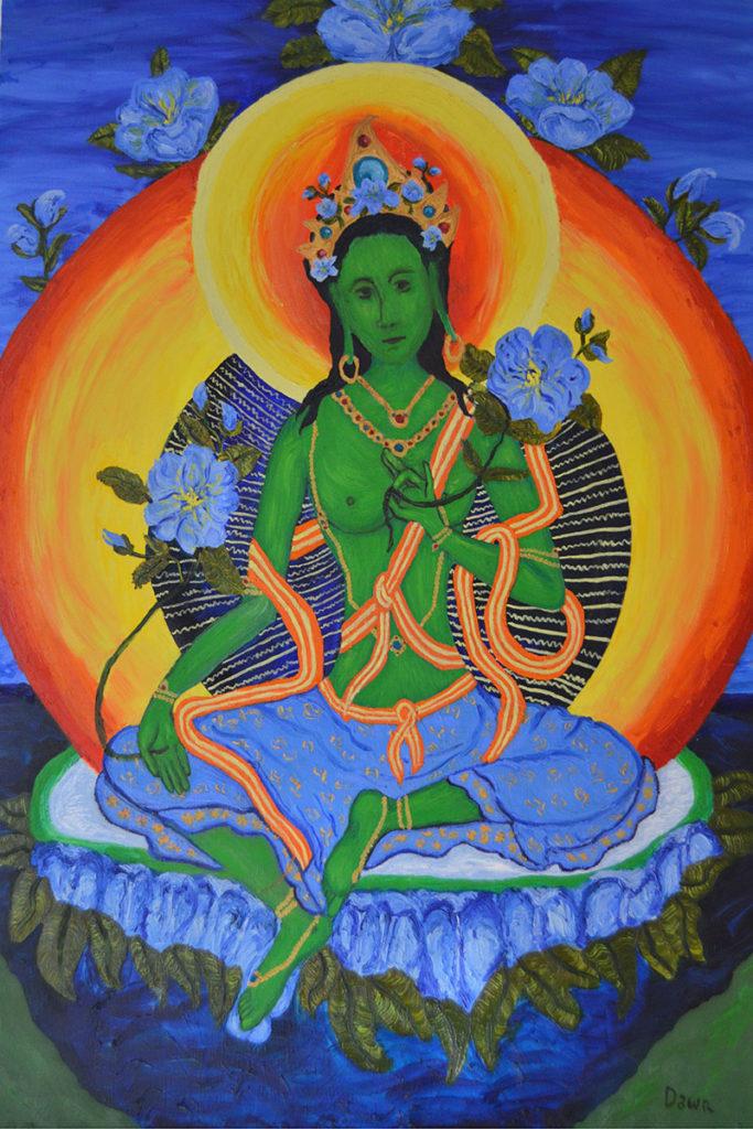 Green Tara by Dawn Howell