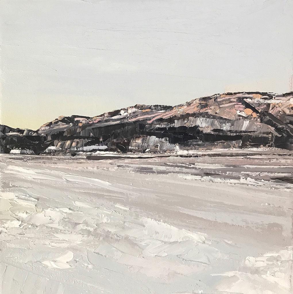 Looking towards Harriman in Early Spring, Peekskill, NY by Lauren Wallis Hall